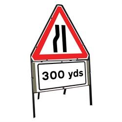 Road Narrow Left 300 Yards