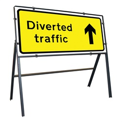 Diverted Traffic Arrow Up