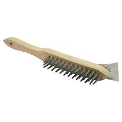Wire Brush With Scraper