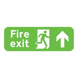 Fire Exit Up Rigid Plastic Sign