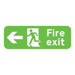 Fire Exit Left Rigid Plastic Sign
