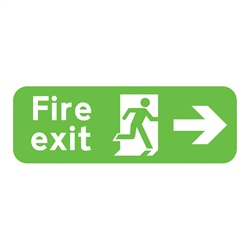 Fire Exit Right Rigid Plastic Sign