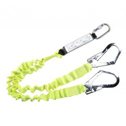 Double Lanyard Elasticated With Shock Absorber