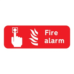 Fire Alarm Rigid Plastic Sign