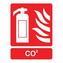 CO2 Fire Extinguisher Sign