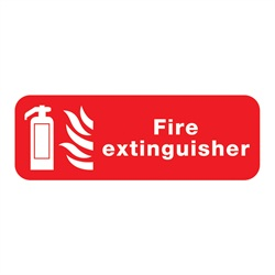 Fire Extinguisher Rigid Plastic Sign