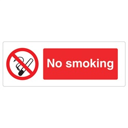 No Smoking Rigid Plastic Sign