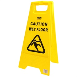 Yellow Wet Floor Folding Sign