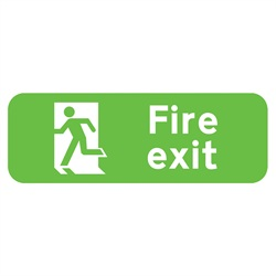 Fire Exit Rigid Plastic Sign