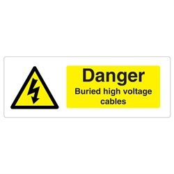 Danger Buried Cable Rigid Plastic Sign