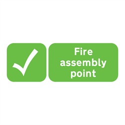 Fire Assembly Point Rigid Plastic Sign