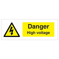 Danger High Voltage Rigid Plastic Sign