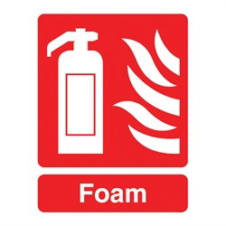 Fire Extinguisher Foam Sign