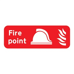 Fire Point Rigid Plastic Sign