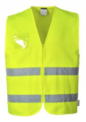 Hi-Vis Polycotton ID Holder Vest
